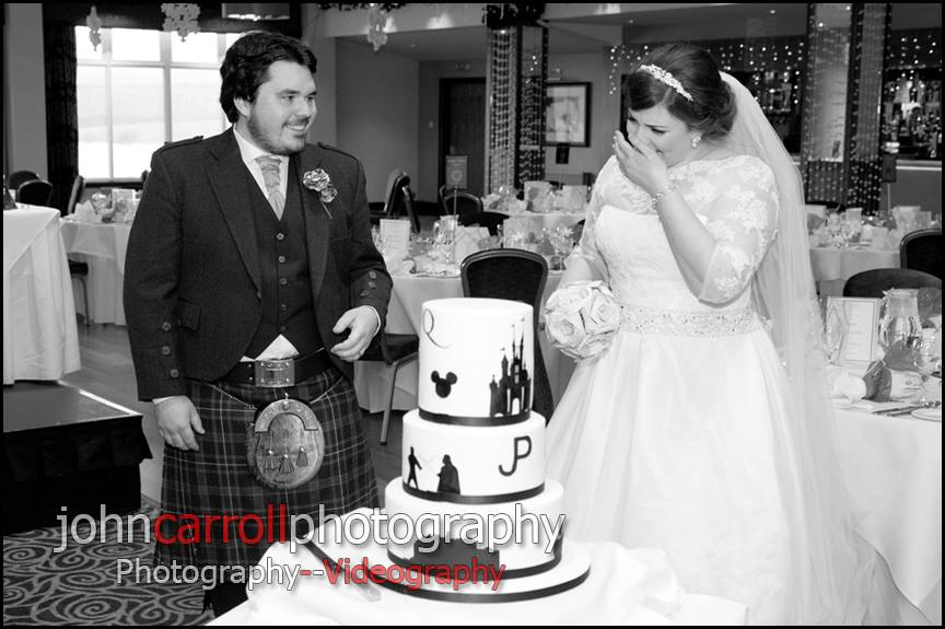 Silhouette Wedding Cake - Tears of Joy!