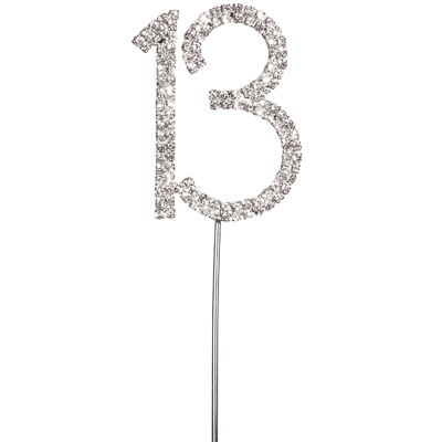 Diamante 13 Cake Topper