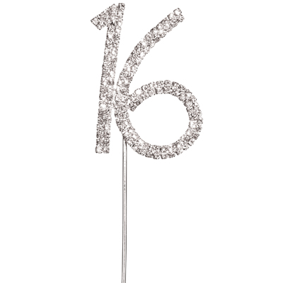 Diamante 16 Cake Topper