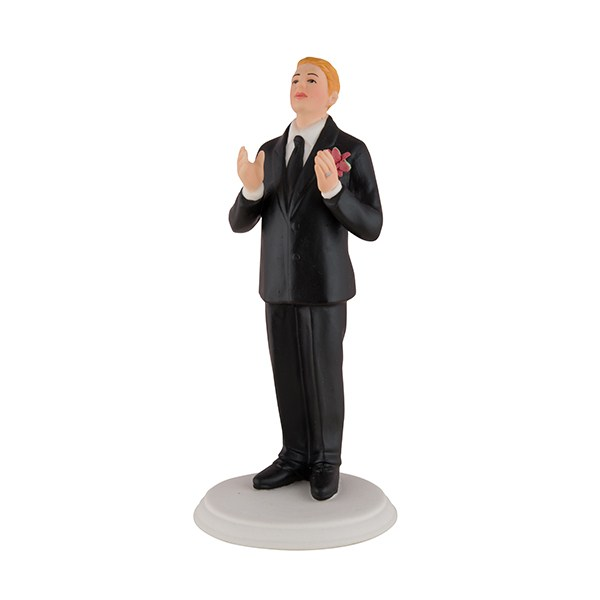 Fair Haired Groom Cake Topper