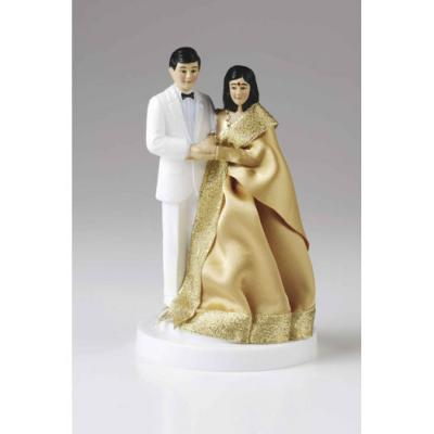 Asian Bride and Groom Wedding Cake Topper