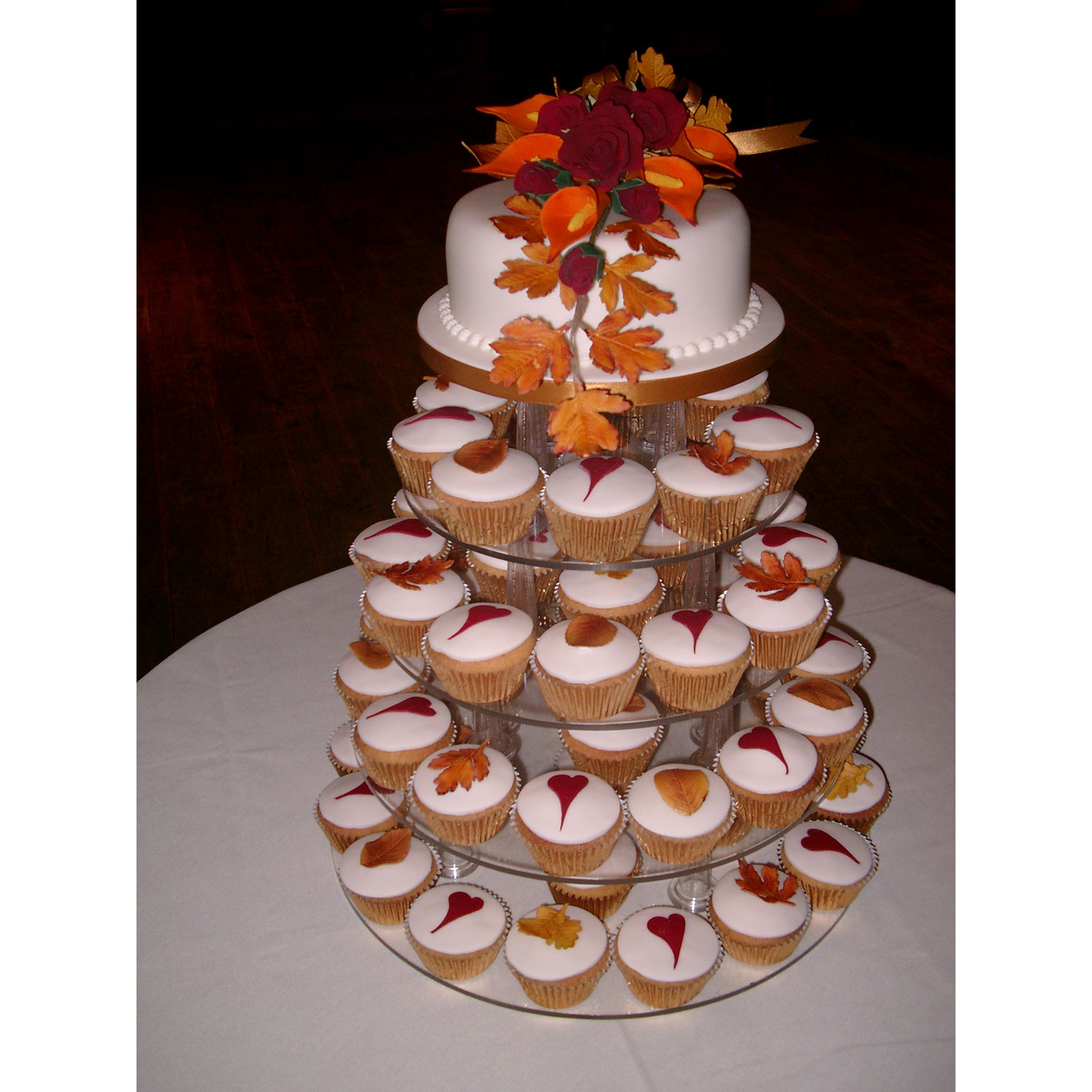 Fall Leaves Wedding Cupcakes