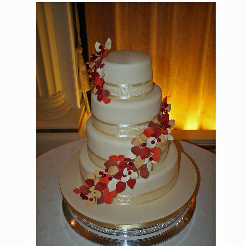 Autumn Leaves Autumn themed Wedding Cake