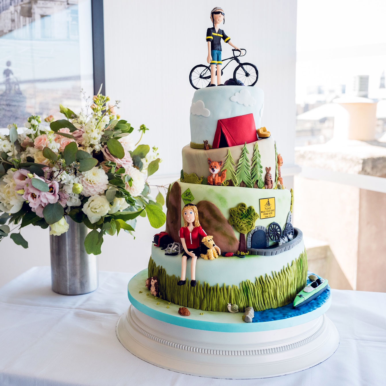 Mountain Bike Wedding Cake