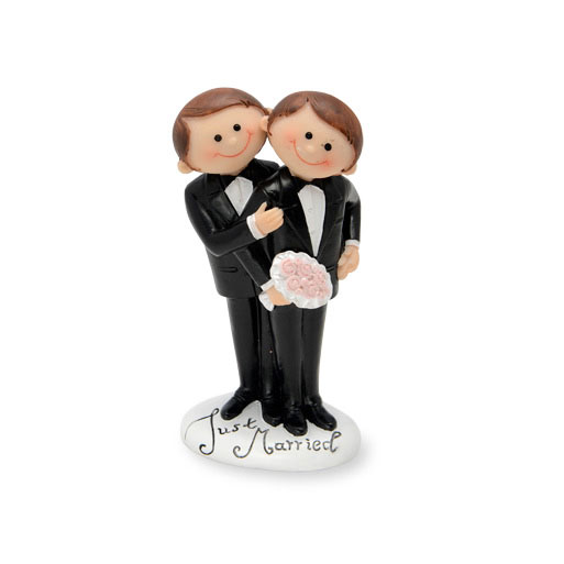 Same Sex Groom Cake Topper