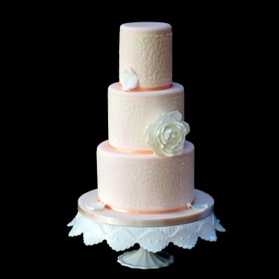 Camellia Lace Wedding Cake
