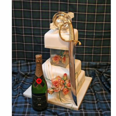 Champagne Sabrage Wedding Cake Sword