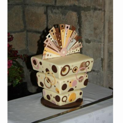 Chocolate Abstract Wedding Cake