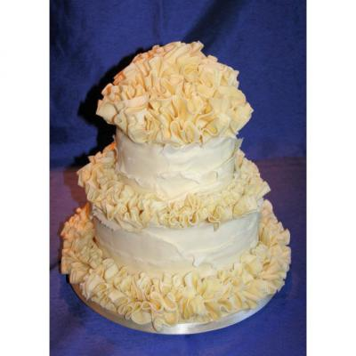 White Belgian Chocolate Wedding Cake