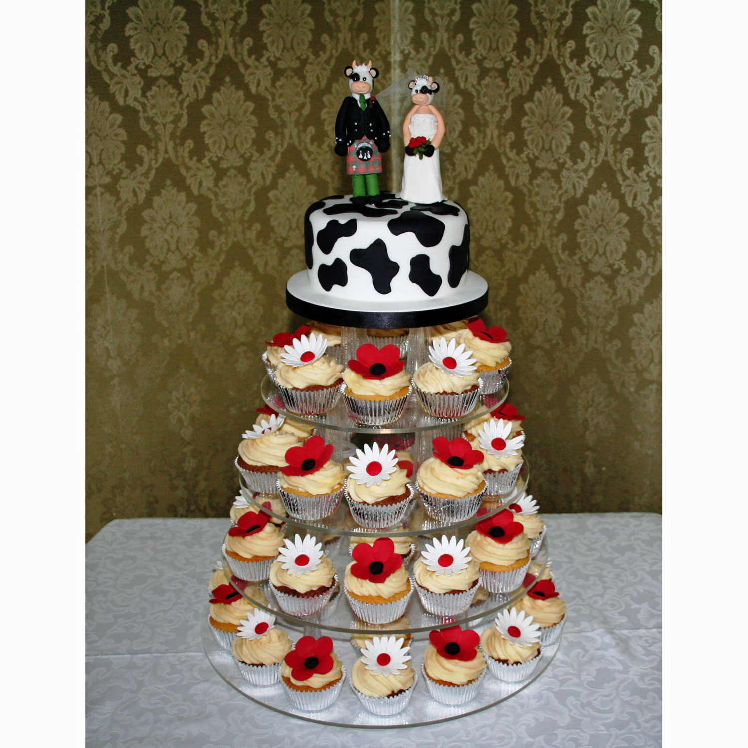 cupcake wedding cake prices