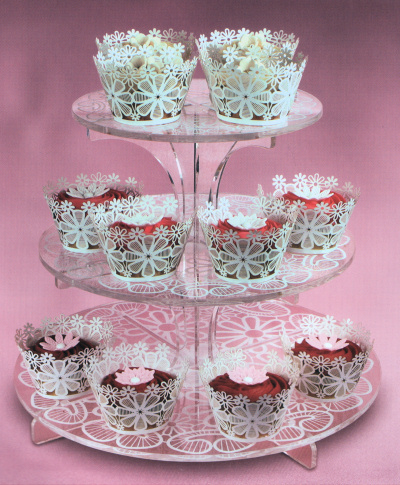Lace Flower Cupcake Wraps