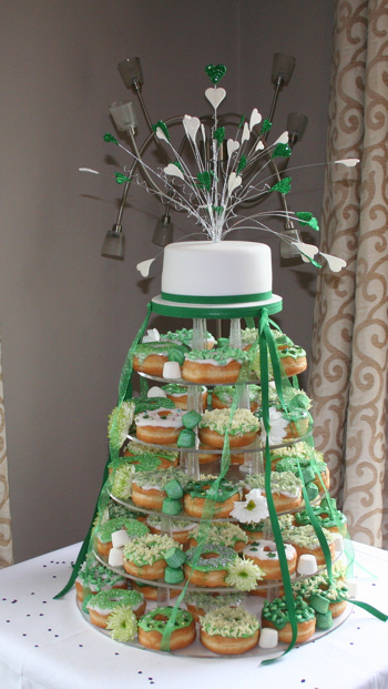 Emerald Donut Wedding Cake