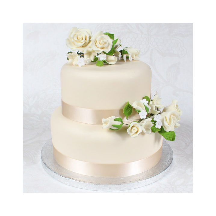 two tier wedding cake eternal 8142