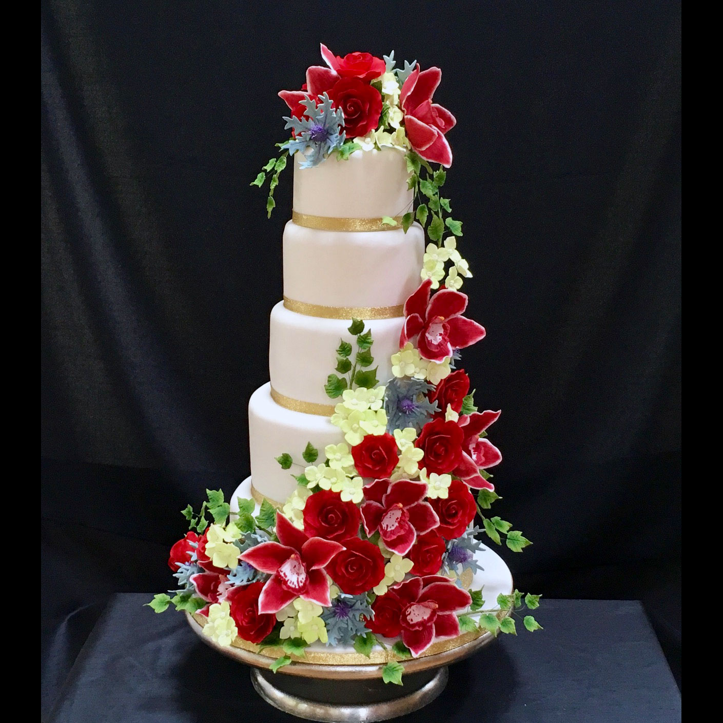 Wedding Cakes With Flowers On Top: Floral Wedding Cakes Floral Wedding Cakes And Cakes With