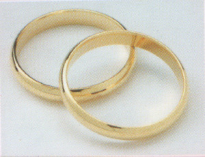 Gold Coloured Wedding Rings