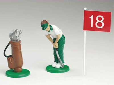 Cake Decorating Golf Figures : Golf Set Golf Cake Decorations