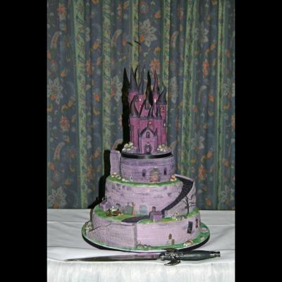 Gothic Cake at the Wedding Venue