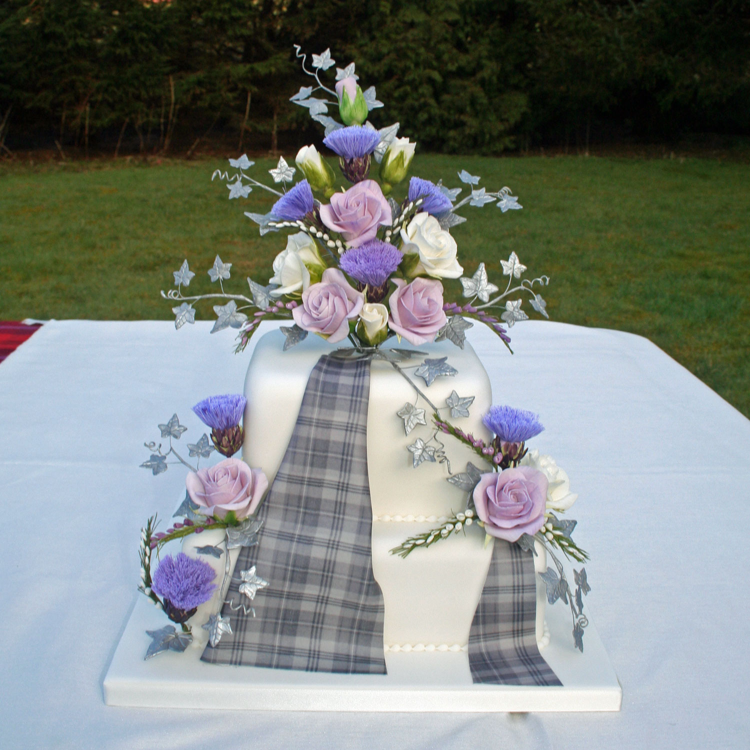 Granite City Tartan Wedding Cake