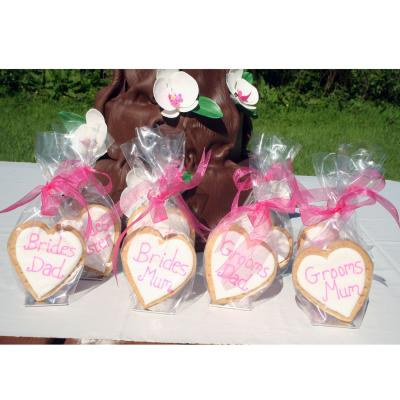Pink Iced Wedding Cookies