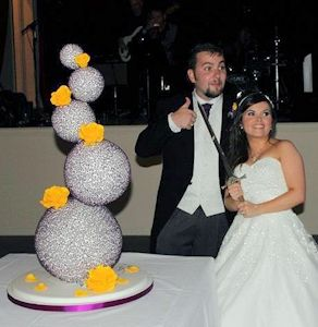 Sphere Wedding Cake - Glasgow
