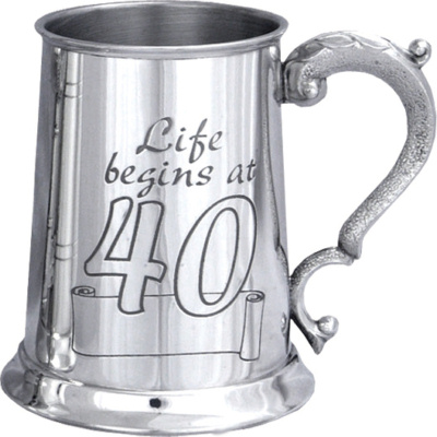 Life Begins At 40 Tankard