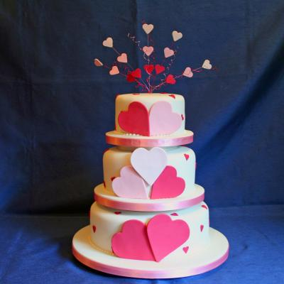 Lola Love Hearts Wedding Cake