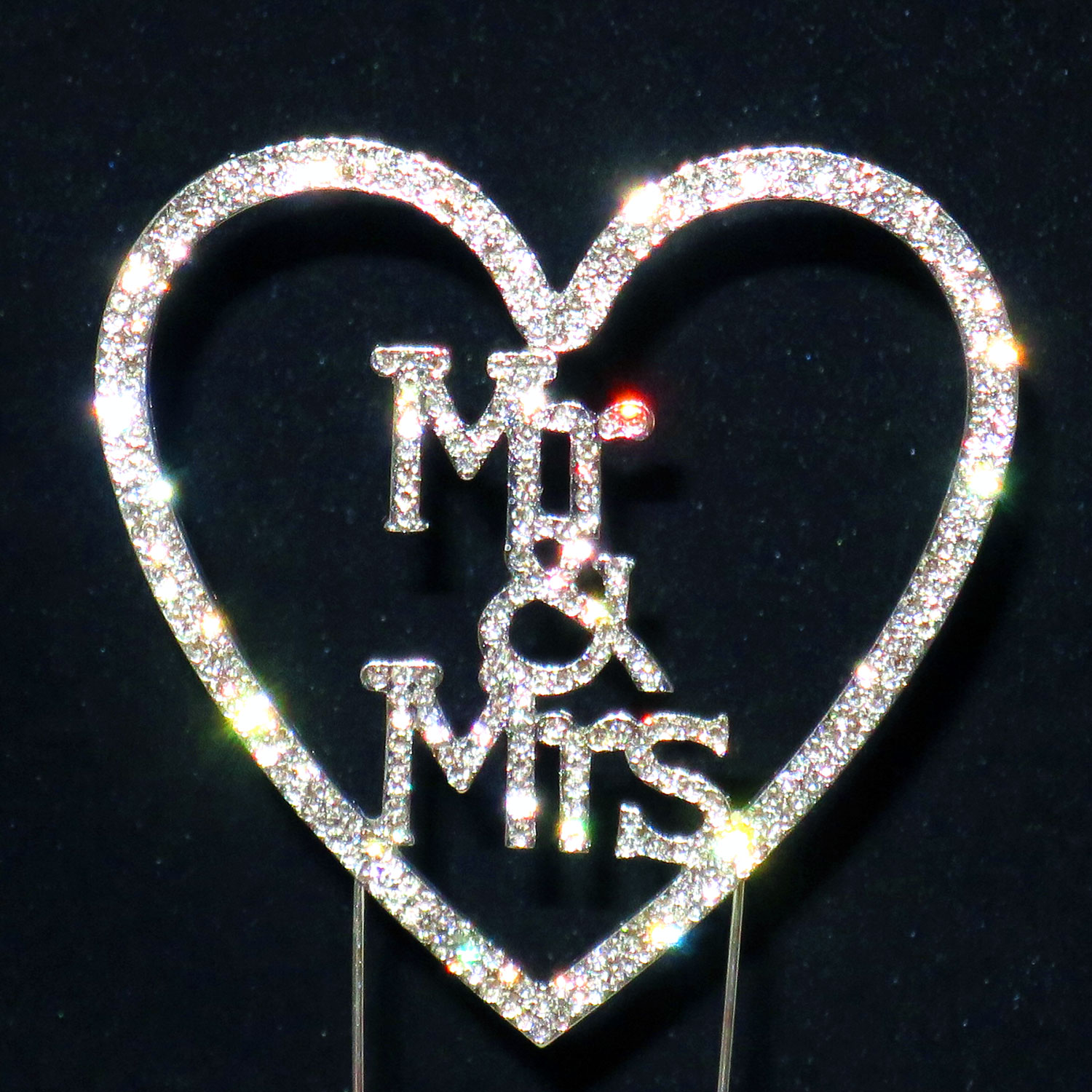 Sparkling Diamante Cake Topper