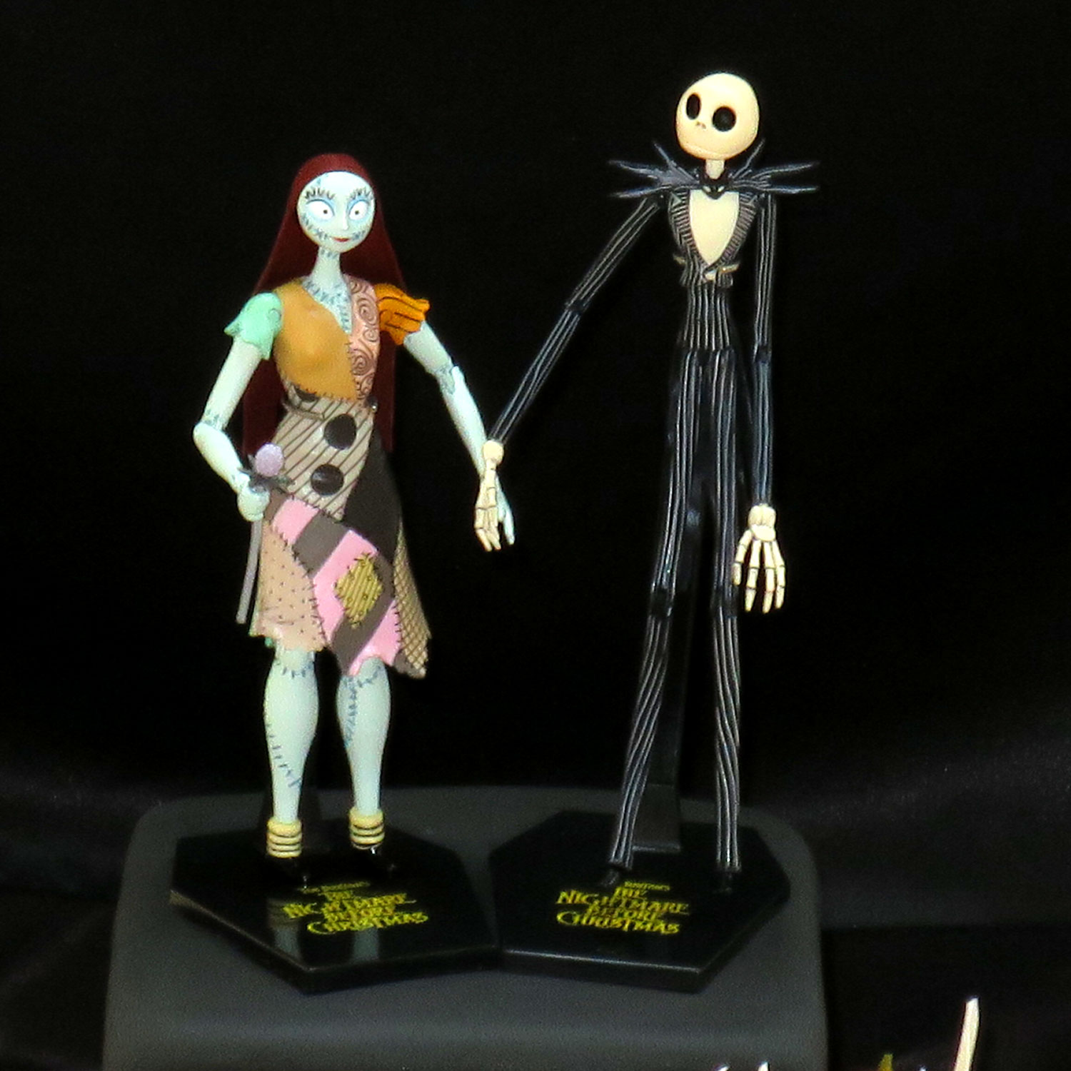 nightmare before christmas wedding cake jack and sally cake topper