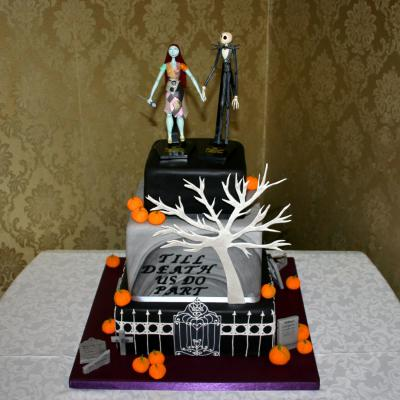 nightmare before christmas wedding cake jack and sally cake topper shortbread place name cookies jack and sally at comlongon castle