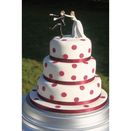 Wedding Cake with Polka Dots