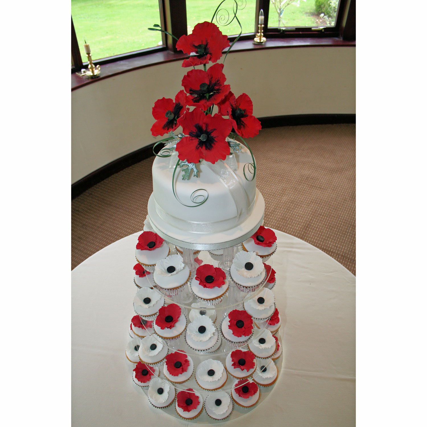 Pin Gretna Wedding Cake Small Two Tier Round With Silk