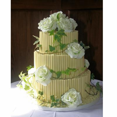 Rachel - White Belgian Chocolate Wedding Cake