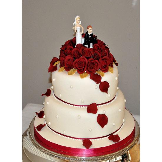 Red Velvet Wedding Cake.Red Velvet Red Velvet Wedding Cake Decorated With Red Sugar