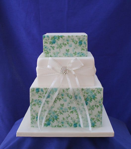 Vintage Prints Wedding Cake