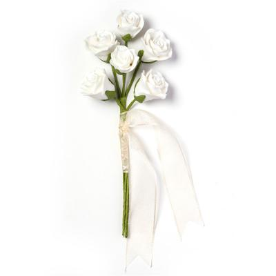 White Sugar Rose Bouquet