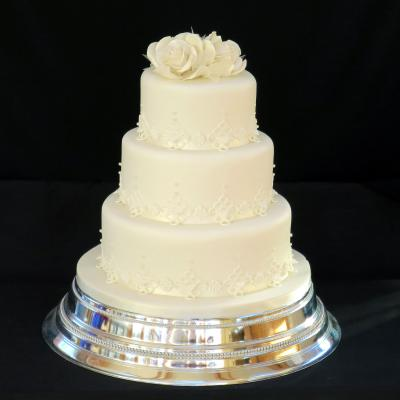 Satin Lace Wedding Cake