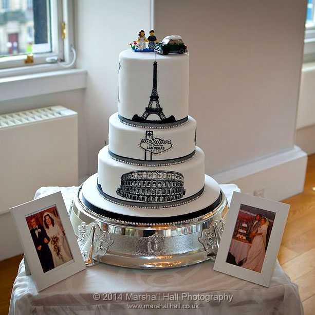 Silhouette Wedding Cake Design.