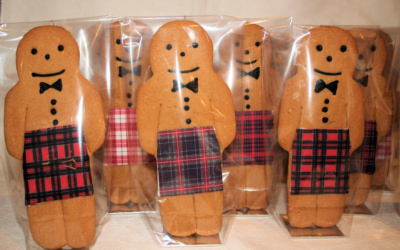 Kilted Gingerbread Men Gingerbread Scotsmen Wedding Cookies