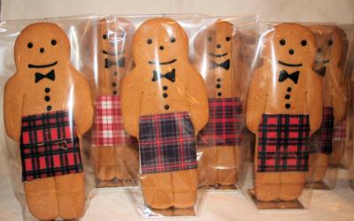 Kilted Gingerbread Men Gingerbread Scotsmen Wedding Cookies