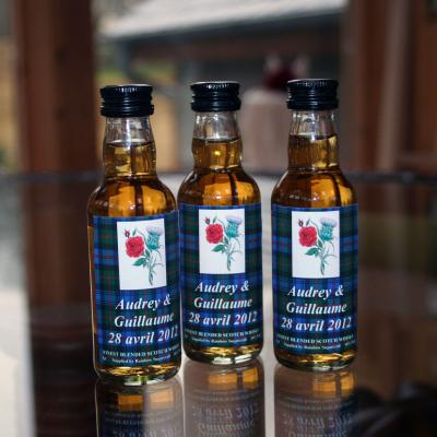 English Rose & Scottish Thistle Whisky Miniatures
