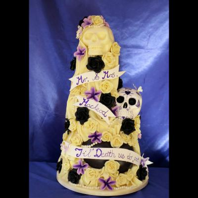 Till Death Us Do Part Wedding Cake.