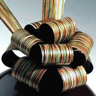Bronze Stripes Professional Chocolate Transfer Sheets