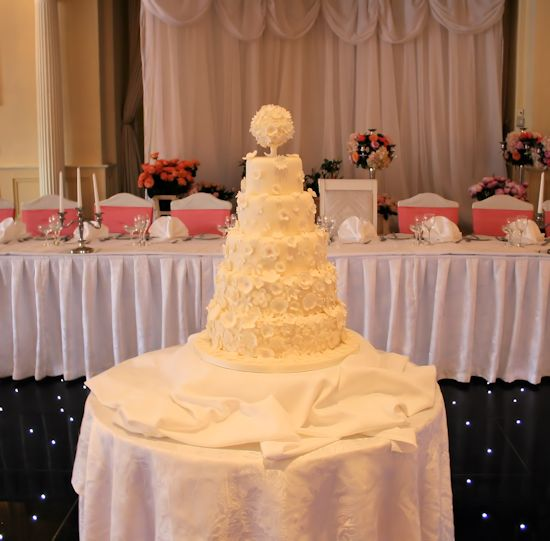 Sugar Petals Wedding Cake