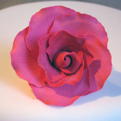 Vintage Red Sugar Rose Head
