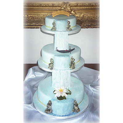 Waterfall Wedding Cake Design