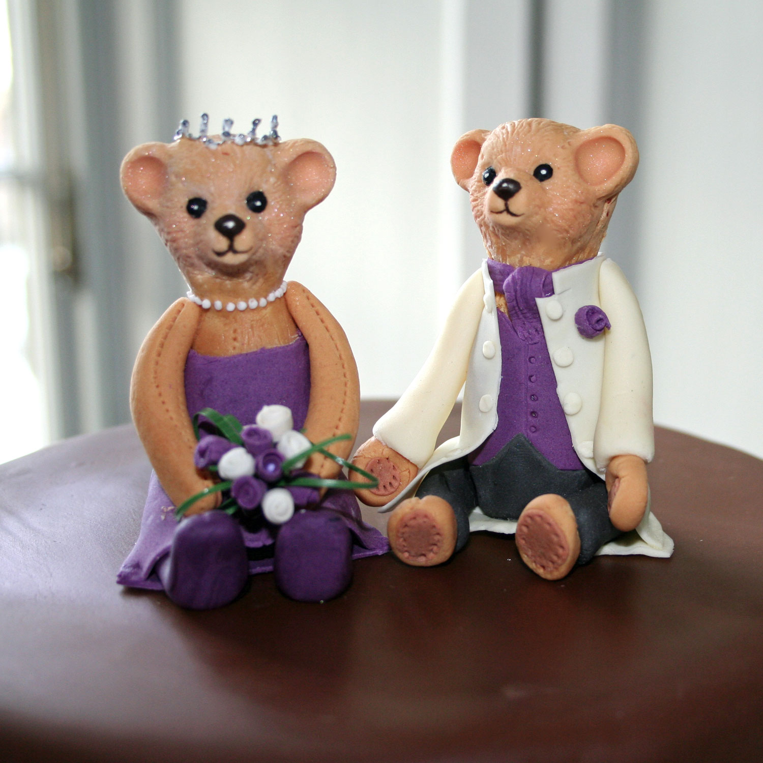 Bride And Groom Teddy Bear Cake Toppers