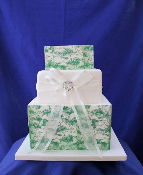 Edible print covered Wedding Cake.