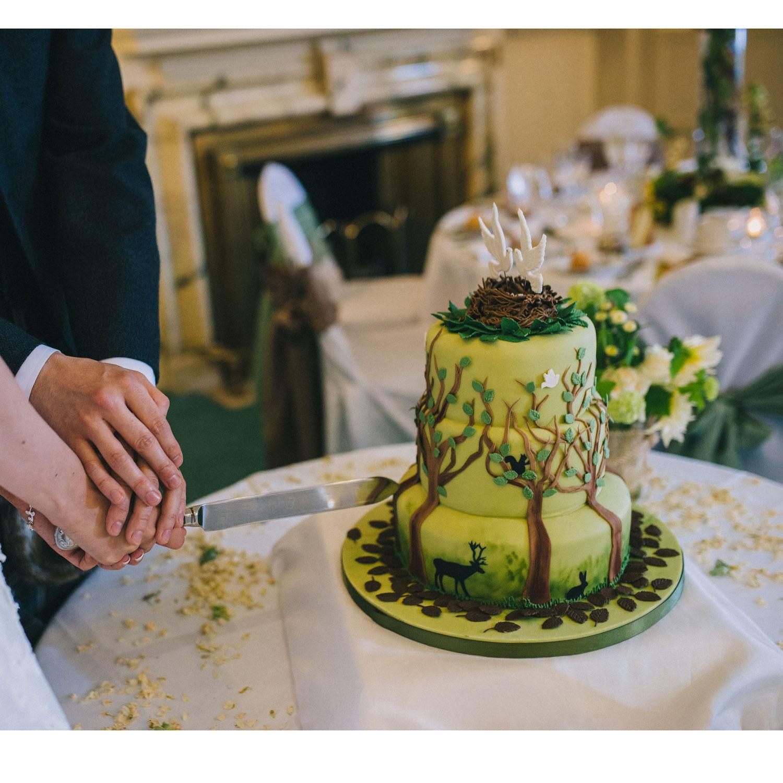 Woodland Themed Wedding Cake: Woodland Woodland Themed Wedding Cake At Gean House, Aloa