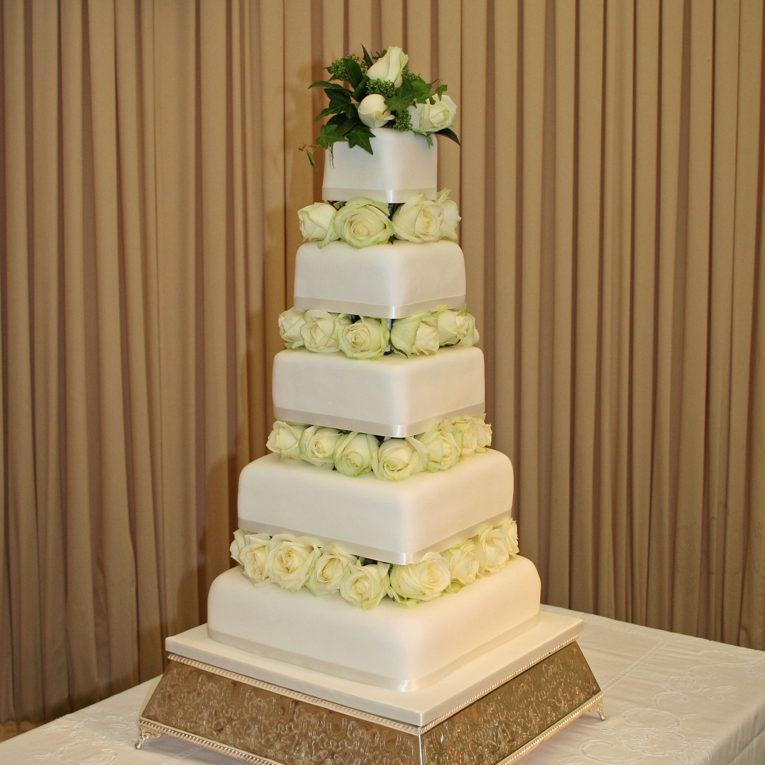Zarina Five Tier Wedding Cake