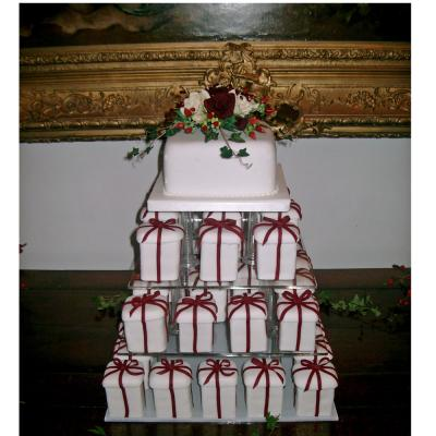 Mini Parcel Wedding Cakes